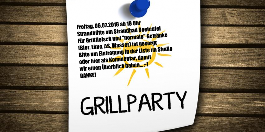 Grillparty Lounge4Fitness