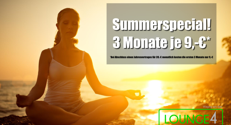 Summerspecial Lounge4Fitness